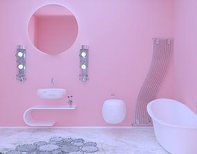 bathroom scene inside 3D