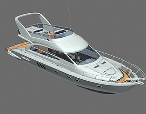 Yacht With Interior 3D model