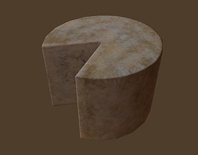 Aged Wheel of Cheese 3D asset