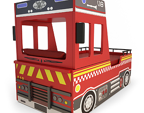 decoration Fire Truck Bed Child 3D