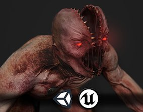 3D model Creepy Horror Monster 2 - PBR and
