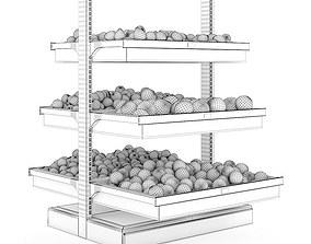 3D detailed Fruit Shelf