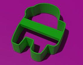 PACK COOKIE CUTTER DE AMONG US CHAR 3D printable model 2