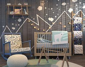 3D Child Bedroom Set 01