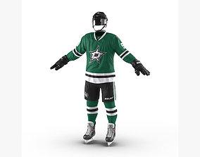 3D Hockey Equipment Dallas Stars