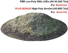Props For Exterior - Mowed Grass - Scanned Pile 3D asset 1