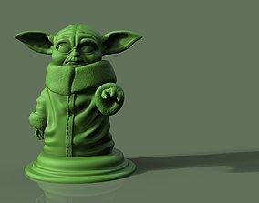 3D print model sculpture Yoda character