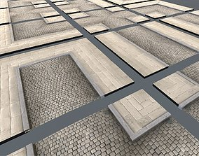 Modular Street Tile Pack 3D asset