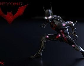3D asset Batman Beyond game poly