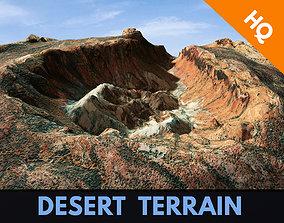 Desert Terrain Canyon Surface Landscape PBR 20 3D asset