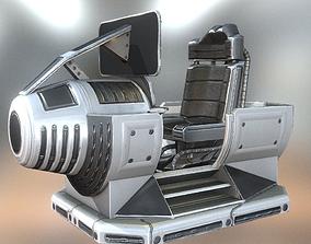 3D asset Futuristic control module Basic