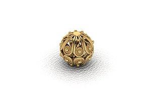 3D print model Sphere Chain bracelet filigree 1 STL