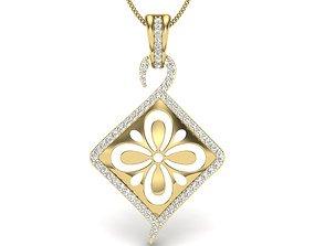 wedding 3D print model Diamond Pendant For Ladies