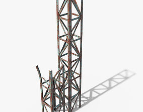 Rusty Truss Beams 3D asset