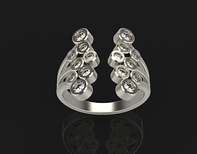 Ring with gems printable 3D print model