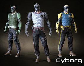 Cyborg 01 3D asset
