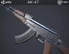 3D asset low-poly AK-47