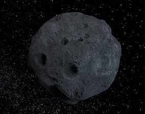 3D PBR Detailed asteroid