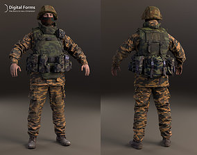 guard Russian soldier RAW 3d scan data
