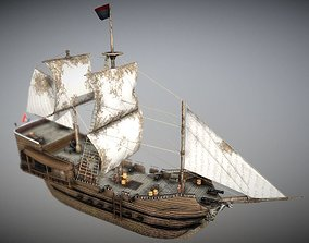 3D water Old Ship