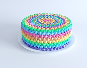 Rainbow Cake 3D model