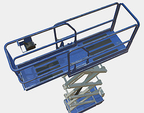3D model game-ready Construction Scissor Lift