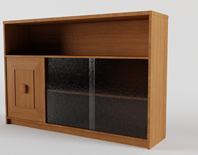 3D model furnishing Mid Century Sideboard