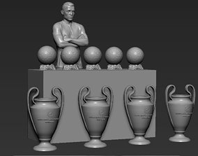 Cristiano Ronaldo with Throphies for 3D printing