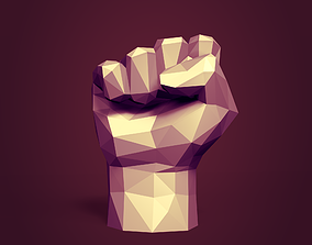 Low Poly Fist Figurine - Ready for 3D Printing