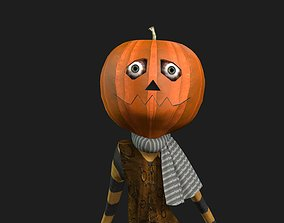 PUMPKIN MAN FULLY RIGGED WITH DANCE ANIMATION 3D asset