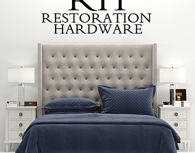 3D RH Adler Tufted Fabric Bed