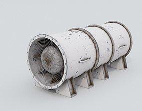 White Ventilation Fan 3D model