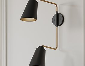 Valmonte 2-Light Armed Sconce by Langley Street 3D model