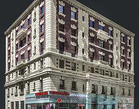 New York old building facade 3D