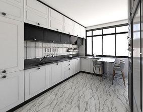 Kitchen Design 3D model VR / AR ready