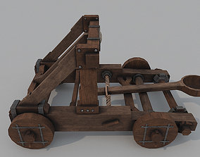 3D model low-poly Catapult