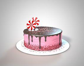 3D model Cake with Lollipops