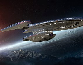 3D star trek uss enterprise ncc 1701-f