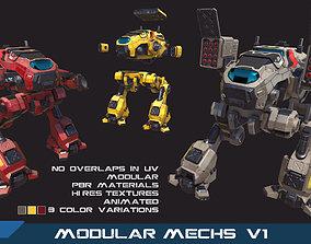 PBR Modular Mechs v1 3D model
