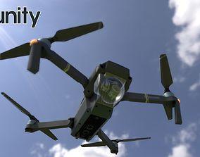 3D asset VR / AR ready DJI Mavic Pro PBR