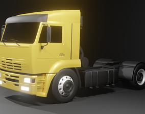 KAMAZ 5460 semi truck 3D model realtime