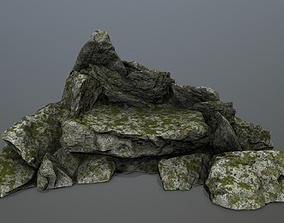 plant mountain rocks 3D asset game-ready