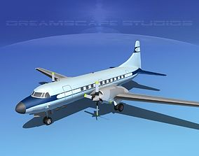 Convair CV-580 Corporate 8 3D
