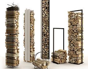 3D Large Set of Firewood