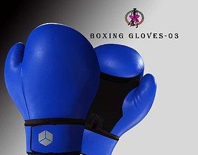 Boxing Glove-Blue 3D asset