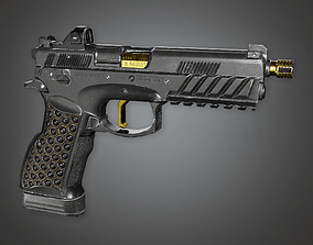 3D asset FPS Modern Handgun - Dust - MHG - PBR Game Ready