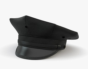 3D Eight Point Police Cap