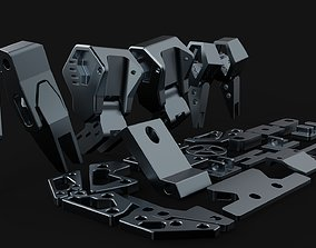 3D robo part legs and other part