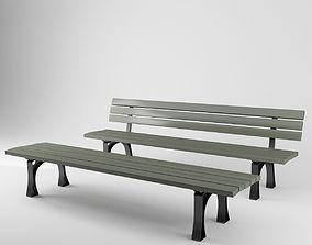3D model urban public benches - city of Munich