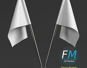Table top flags with stand 3D model